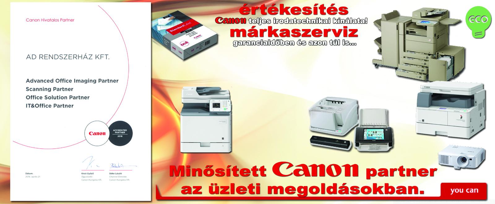 hivatalos Canon partner